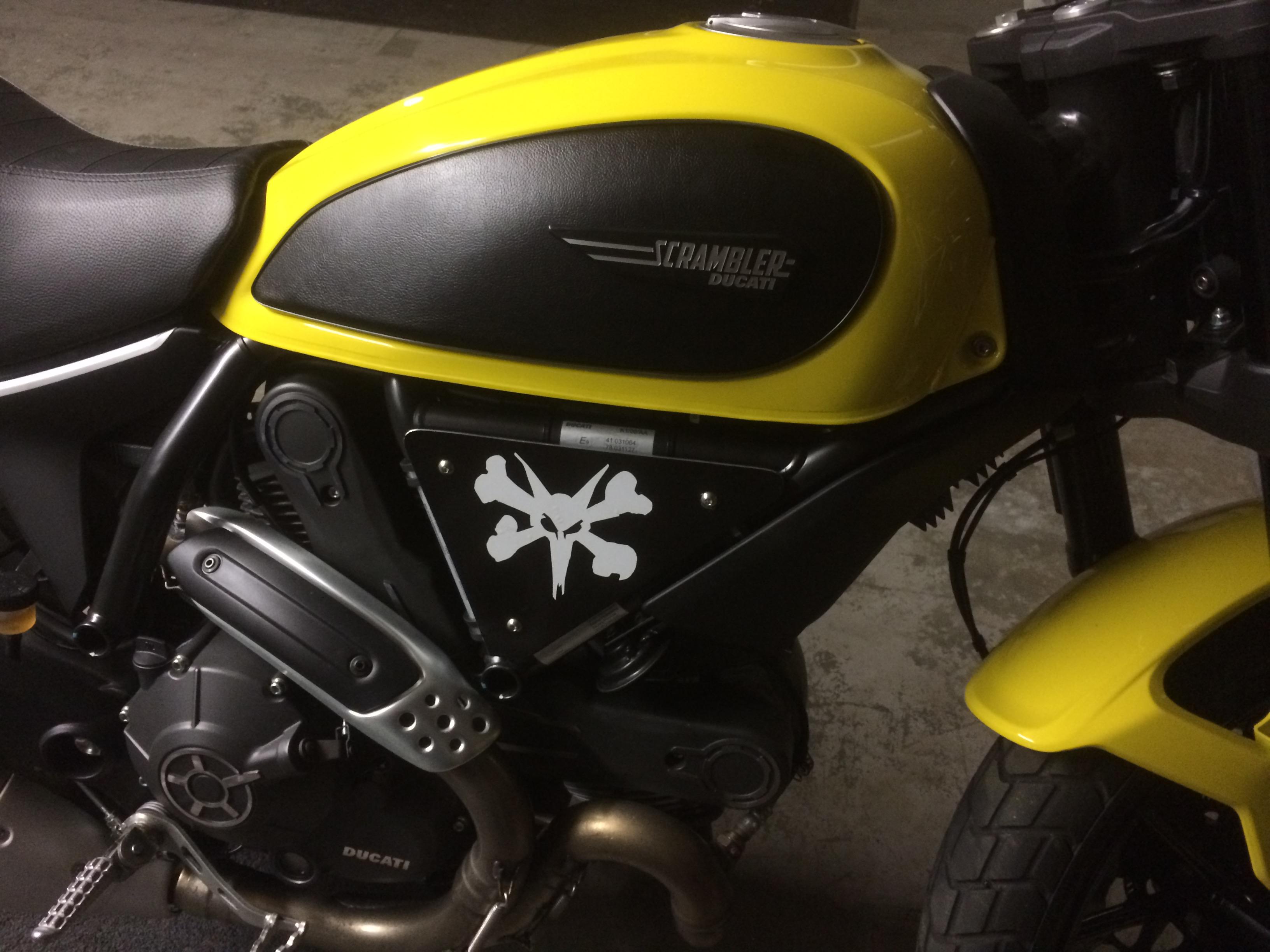 Vinyl Wrapped Tank Panel Ducati Scrambler Forum