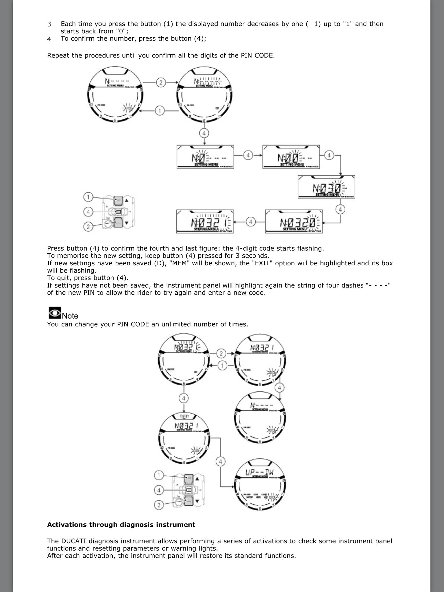 Resetting pin code | Ducati Scrambler Forum